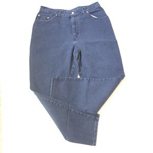 Vintage navy blue high waisted jeans 16 petite